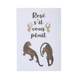 Rose s'ill vous plait oorbellen