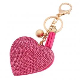 Roze hart sleutelhanger