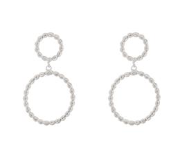 Double Circle oorbellen