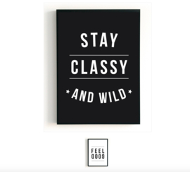 STAY CLASSY AND WILD/FEEL GOOD POSTER ||