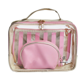 3 piece make up bag