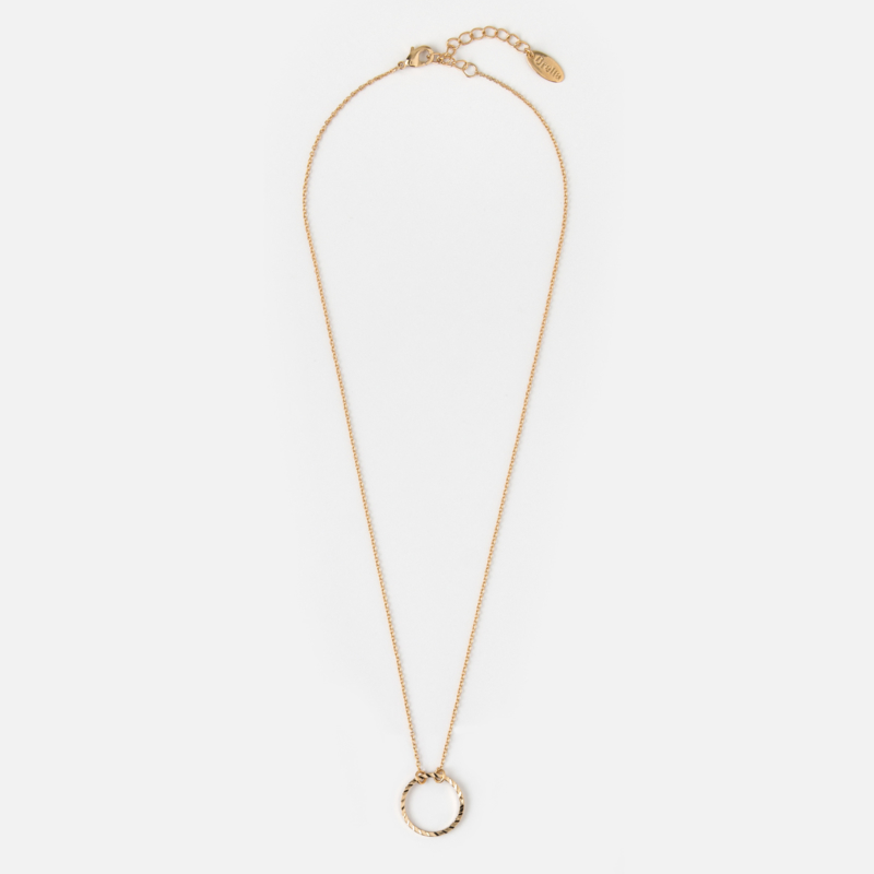 CIRCLE CUT OUT NECKLACE