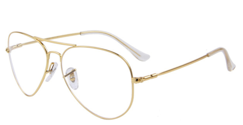 GOLD FRAME GLASSES ||