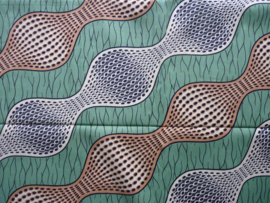 Bicolor wave , Afrikaanse stof