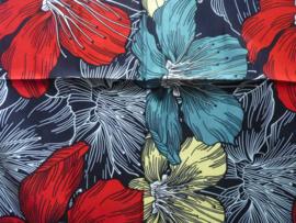 Big colored flowers, Afrikaanse stof