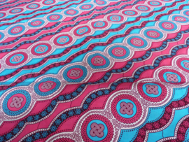 Pink diagonal figures, Afrikaanse stof