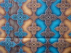Flowers 3 colors, Afrikaanse stof