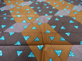 Blue triangles, Afrikaanse stof