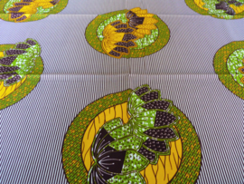 Flowers in circles, Afrikaanse stof