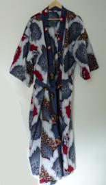Afrikaanse kimono lang, rood