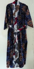 Afrikaanse kimono lang, blauw