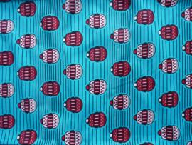 Cupcakes blue, Afrikaanse stof