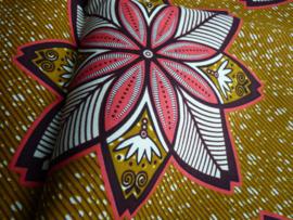 Pink flowers, Afrikaanse stof