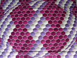 Colored hexagon, Afrikaanse stof