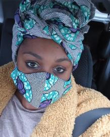 Mondkapje, Afrikaanse stof