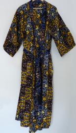 Afrikaanse kimono lang, geel