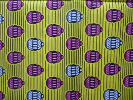 Cupcakes yellow, Afrikaanse stof