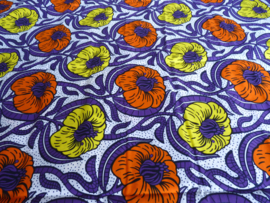 Flowers 2colors, Afrikaanse stof