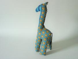 Blauwe giraffe, Stoffen decoratiedier
