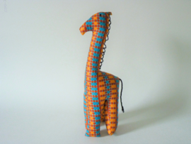 Geblokte giraffe, Stoffen decoratiedier
