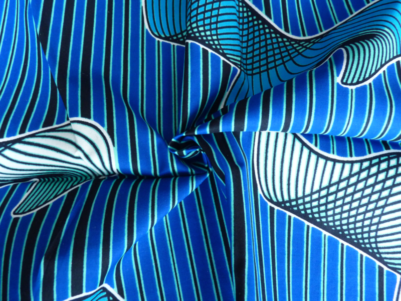 All blue, Afrikaanse stof
