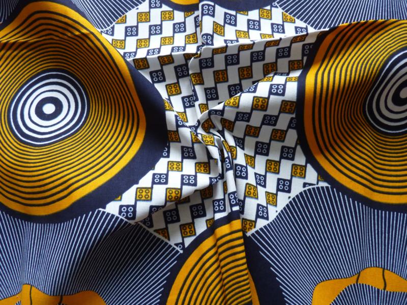 Yellow circles, Afrikaanse stof