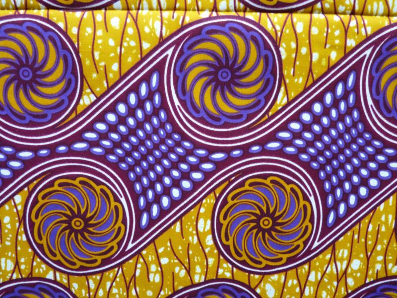Purple / Yellow ball, Afrikaanse stof