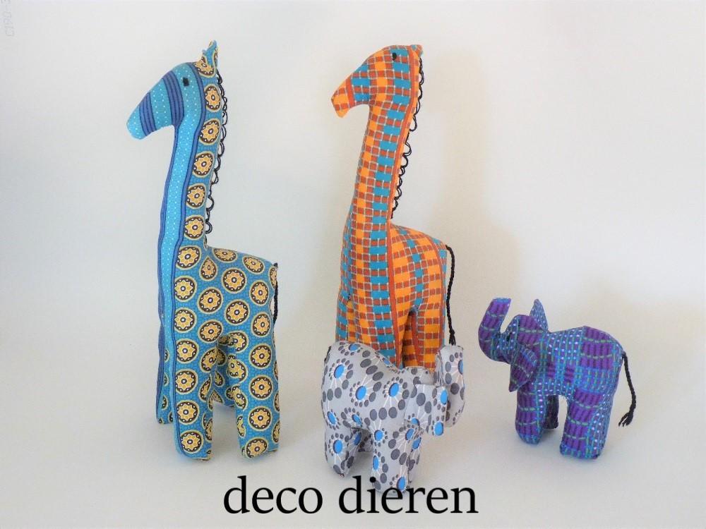 Deco dieren van Afrikaanse stof
