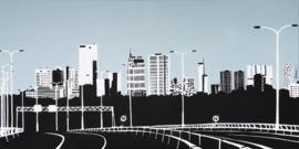 Rotterdam Skyline vanaf Kleinpolderplein