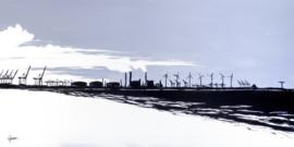 Maasvlakte vanaf Hoek van Holland