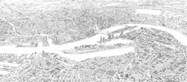 Rotterdam Skyline Birdseye