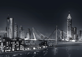 Rotterdam Skyline by Night