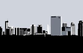 Skyline Rotterdam vanaf Noord