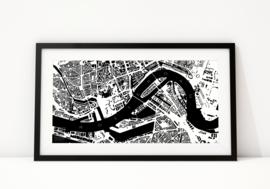 Plattegrond van Rotterdam