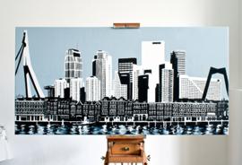 Skyline Rotterdam: vanaf Kop van Zuid