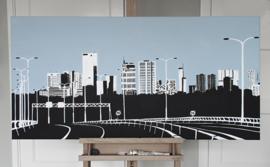 Skyline Rotterdam: vanaf Kleinpolderplein
