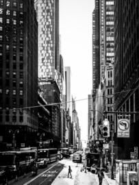 Woman Crossing Fifth Avenue