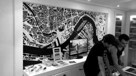 Map Rotterdam muurschildering