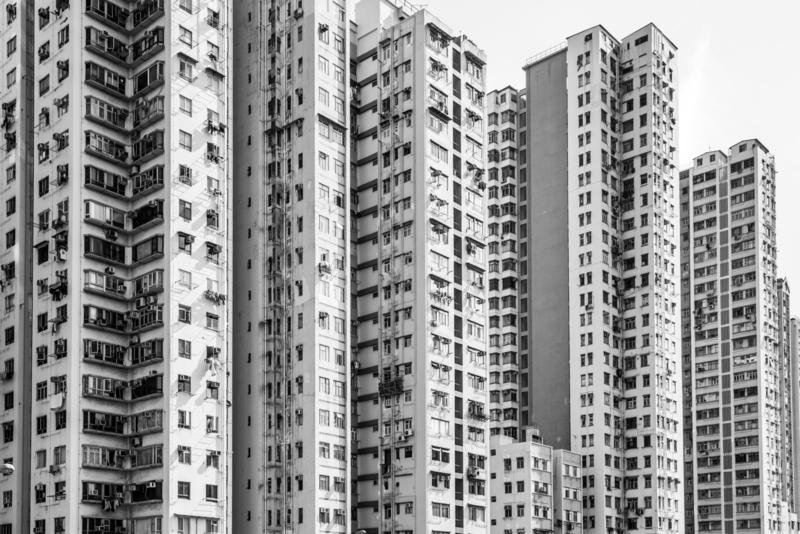 Endless appartments buildings Hong kong