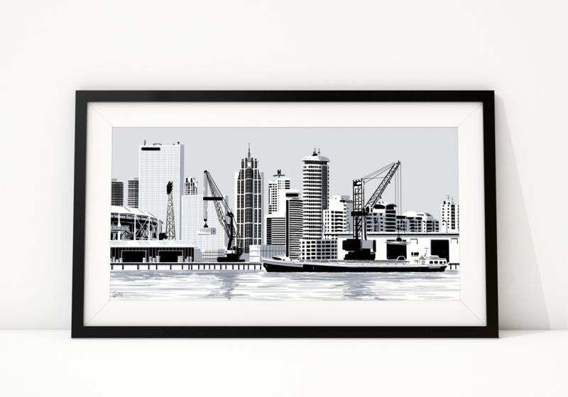 Skyline havens Rotterdam & Vlissingen