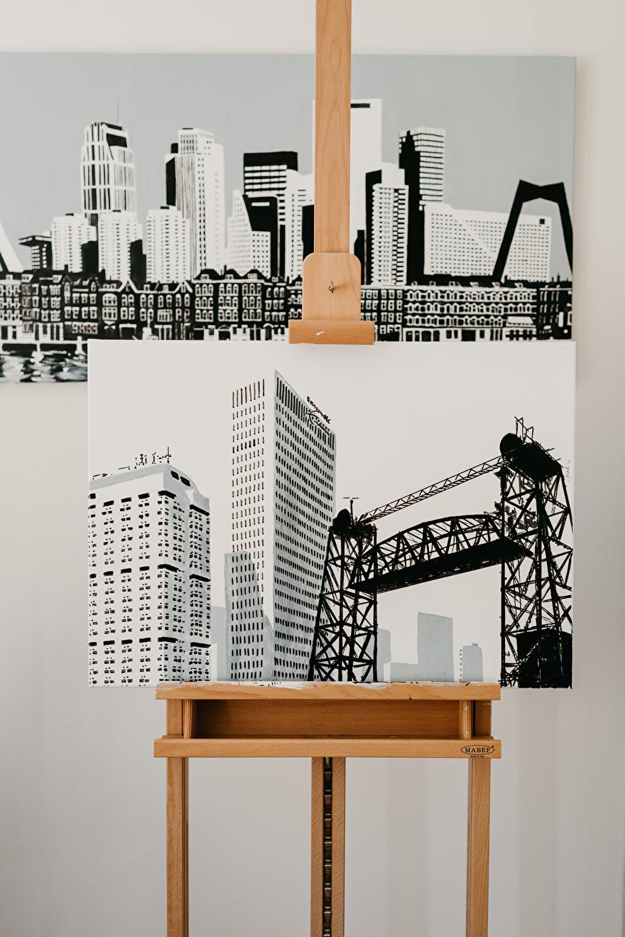 schilderij van Rotterdam op maat