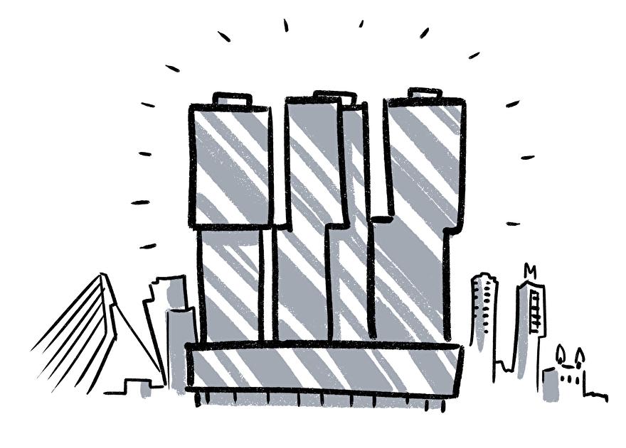8 Leuke bijnamen van gebouwen in Rotterdam: De Rotterdam