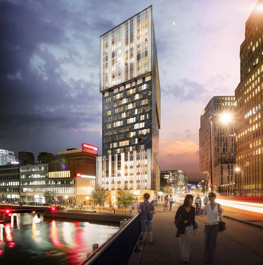 Toekomst van de skyline van Rotterdam: Bright