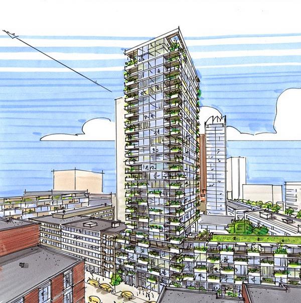 Toekomst van de skyline van Rotterdam: Glashaventoren