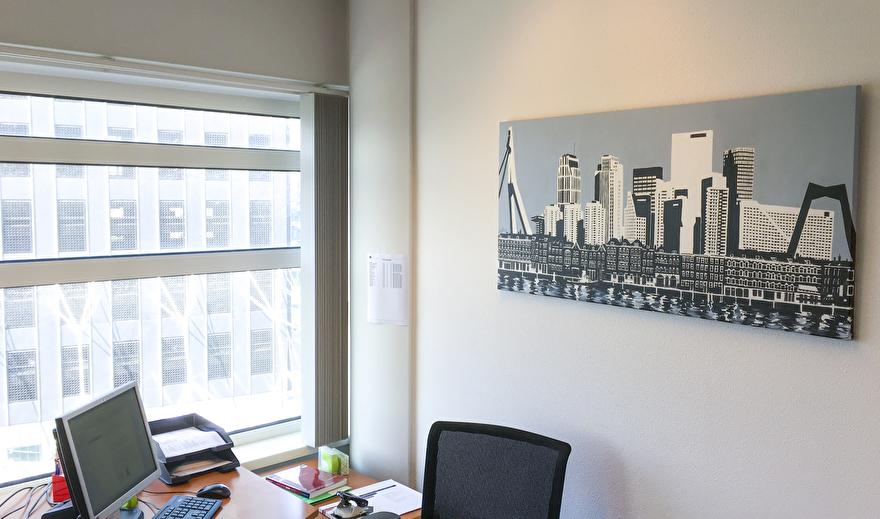 Kunst op kantoor schilderij van Rotterdam