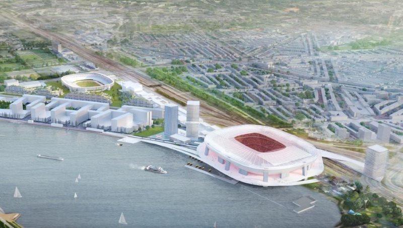 Nieuwe Kuip ontwerp Feyenoord City van bovenaf