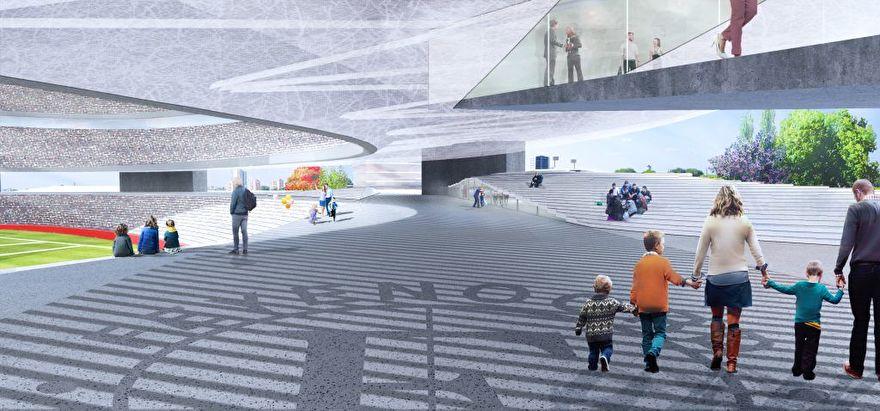Interieur ontwerp Nieuwe Kuip station Feyenoord Rotterdam