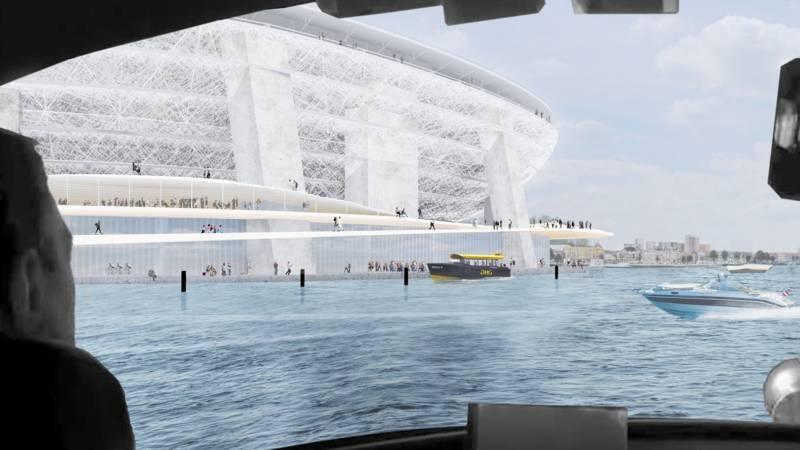 Ontwerp nieuwe Stadion Feyenoord de Kuip van zijkant