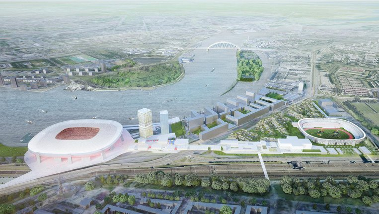 Feyenoord City van boven ontwerp OMA
