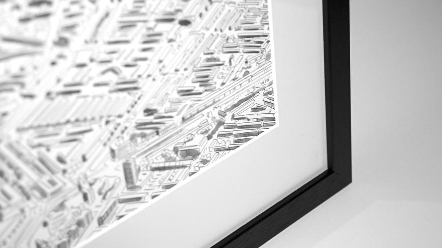 Rotterdam poster ingelijst in wissellijst op elk formaat